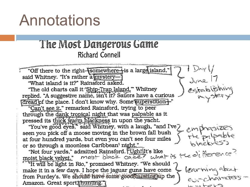 Annotations ● Your annotations should resemble this: D. Beckman & E. Van Winkle (July 2012)