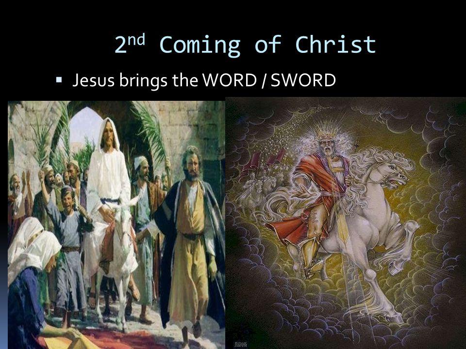 2 nd Coming of Christ  Jesus brings the WORD / SWORD