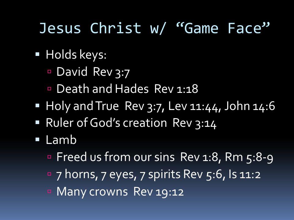 Matthew Ch 24  Pre Game:  Deception False Prophets Mt 24:5  Destruction Wars Mt 24:6  Dissension Nation vs.
