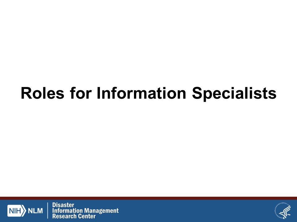 Roles for Information Specialists