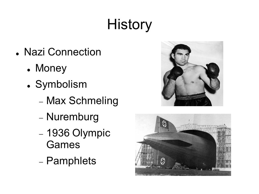 History Nazi Connection Money Symbolism  Max Schmeling  Nuremburg  1936 Olympic Games  Pamphlets