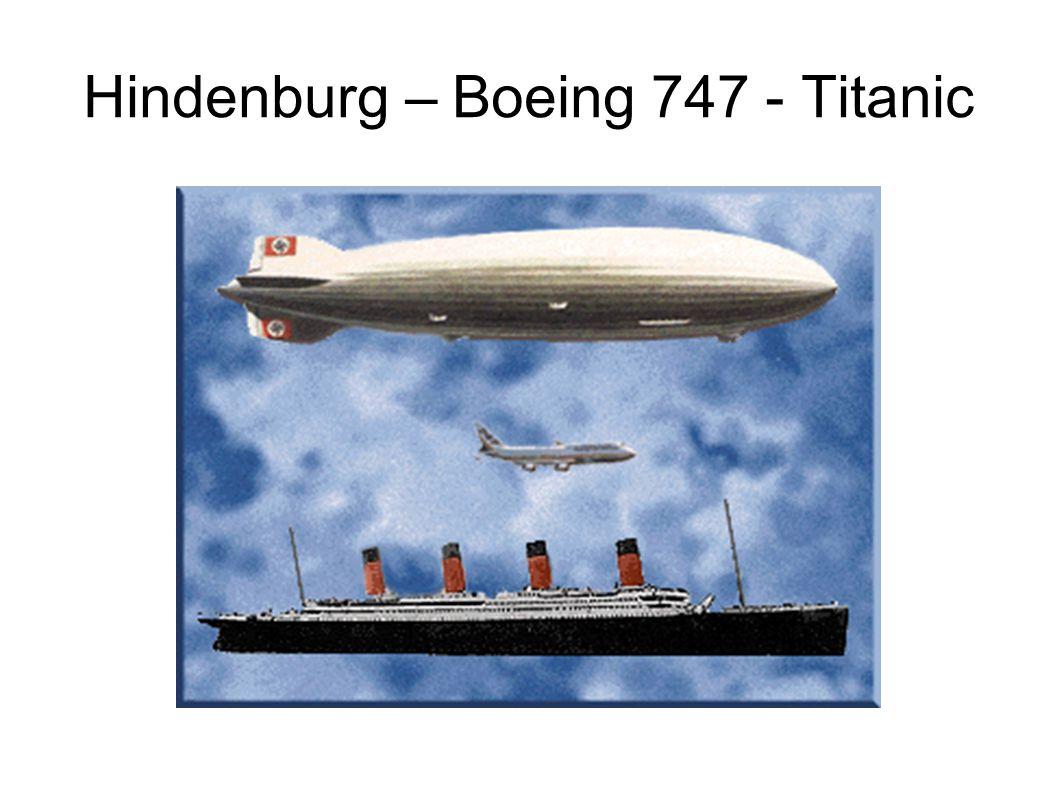 Hindenburg – Boeing 747 - Titanic
