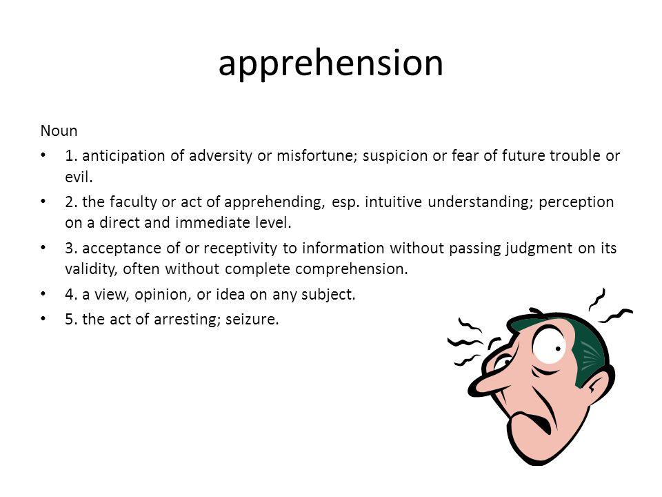 apprehension Noun 1.