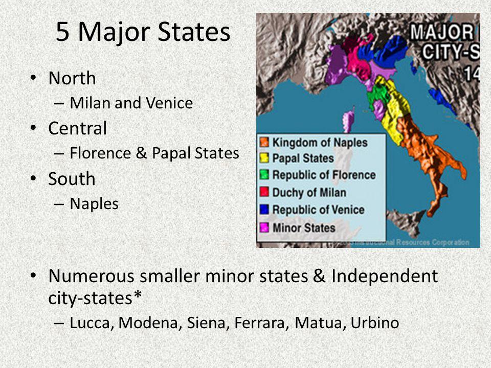 Italian Renaissance Politics: the 5 Major States