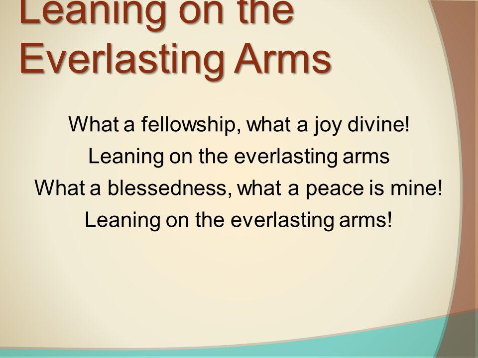 What a fellowship, what a joy divine.