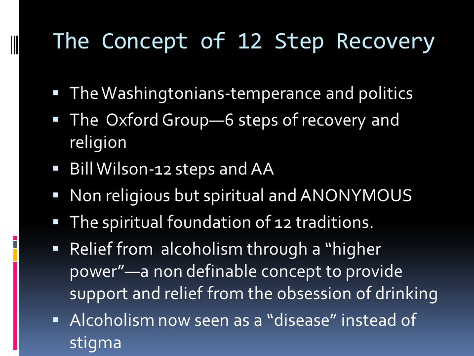 Alternatives To 12 Step Groups  *SMART recovery's goal is to empower substance abusers by teaching them to identify and counter negative thought patterns that contribute to their substance use.