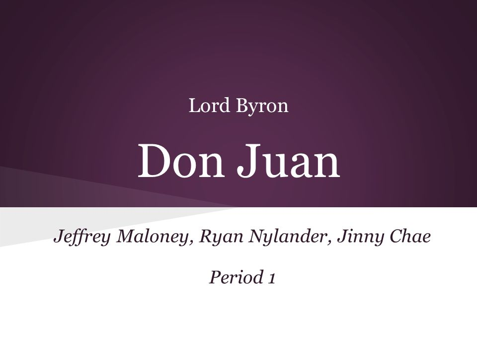 Lord Byron (1788-1824) One of the chief poets of the romantic movement.