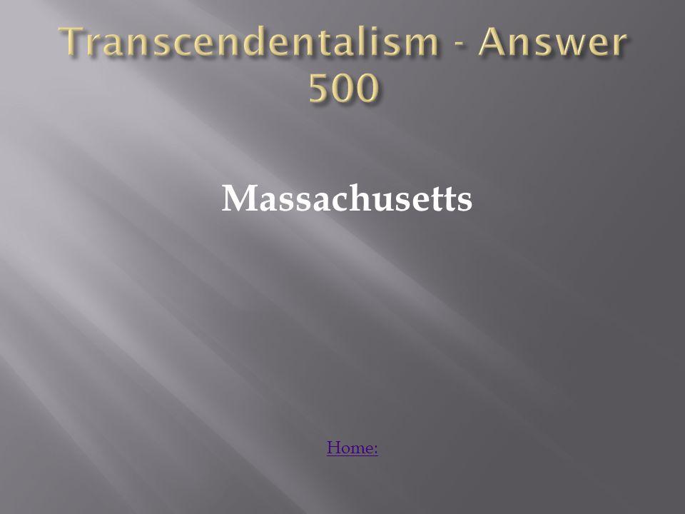 Massachusetts Home: