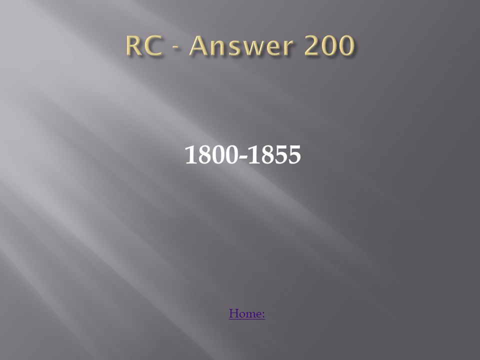 1800-1855 Home: