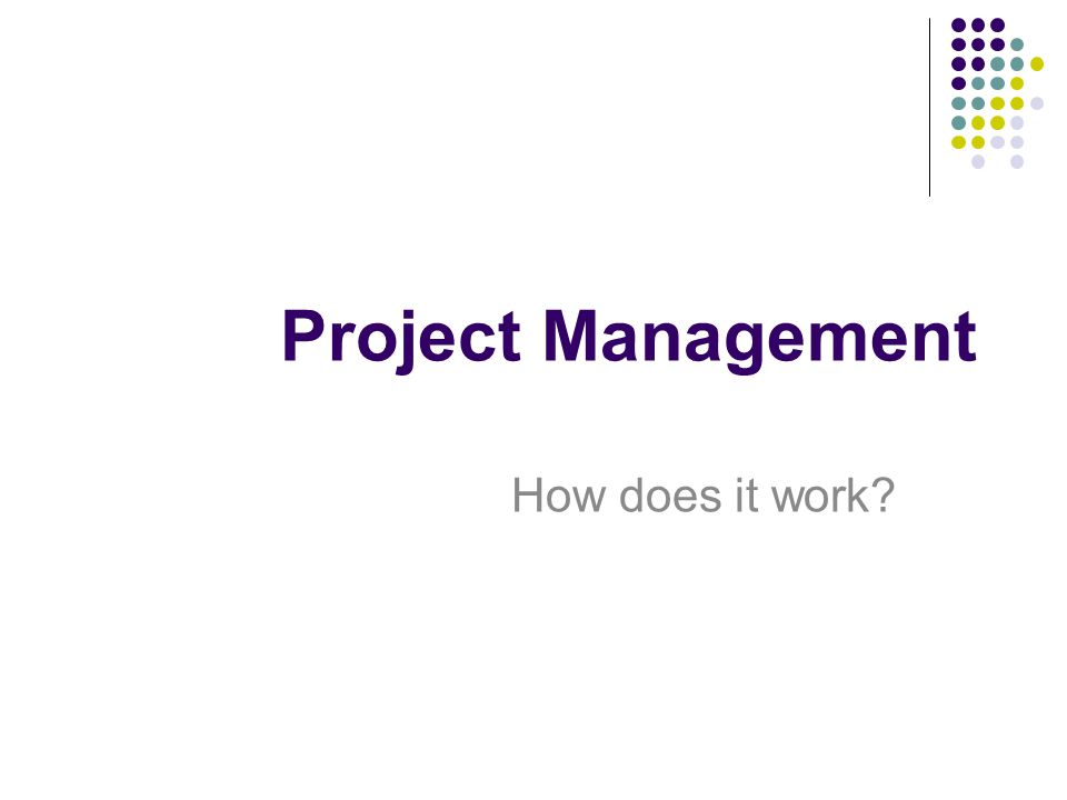 Project Management How does it work