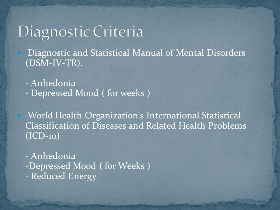 Diagnostic and Statistical Manual of Mental Disorders (DSM-IV-TR).
