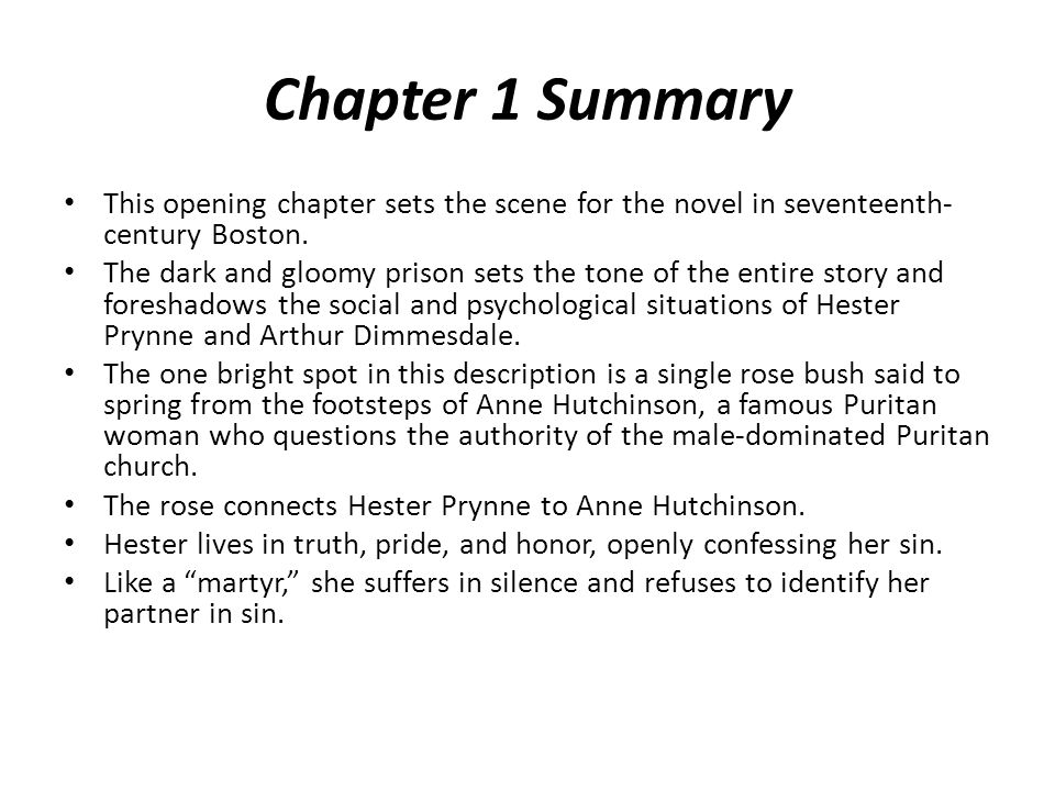 Chapter 22 Summary This chapter centers on the Election Day holiday.
