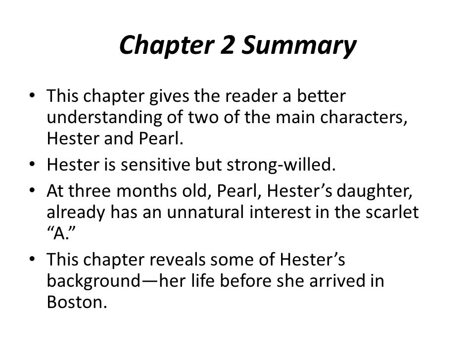 Chapter 3 Summary In this chapter, the other two main characters of the novel appear.