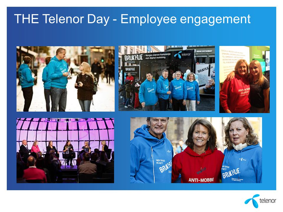 THE Telenor Day - Employee engagement