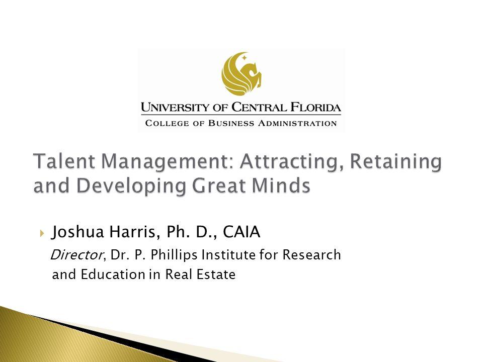  Joshua Harris, Ph. D., CAIA Director, Dr. P.