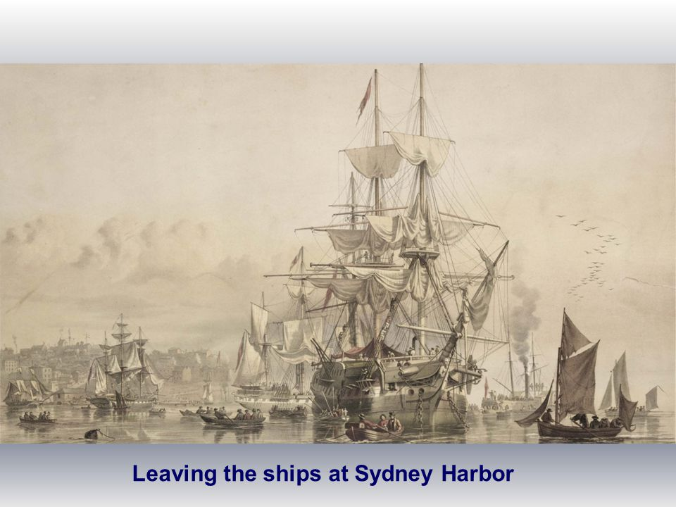 Leaving the ships at Sydney Harbor