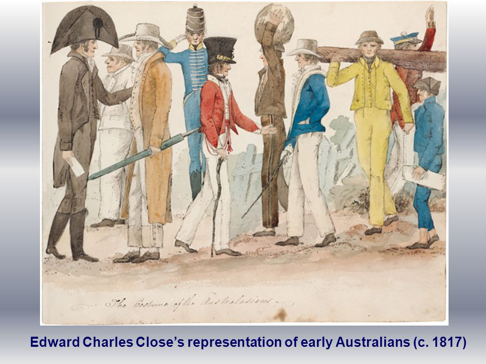 Edward Charles Close's representation of early Australians (c. 1817)