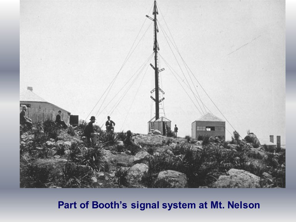 Part of Booth's signal system at Mt. Nelson