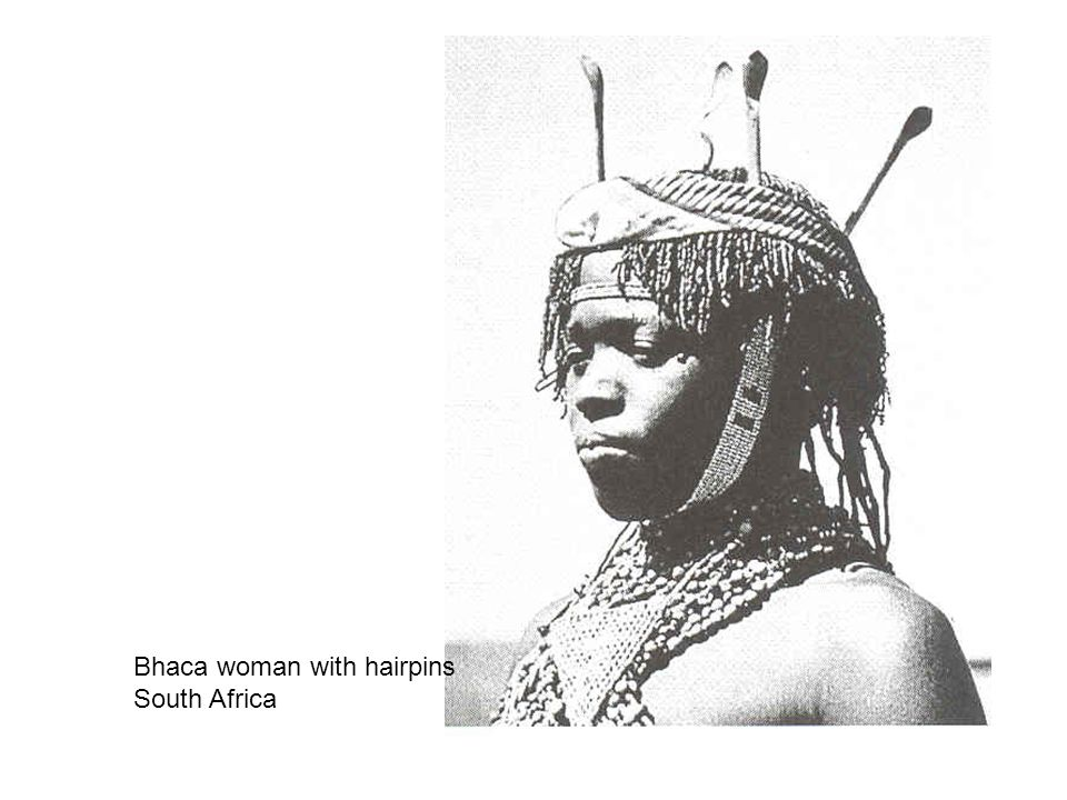 Bhaca woman with hairpins South Africa