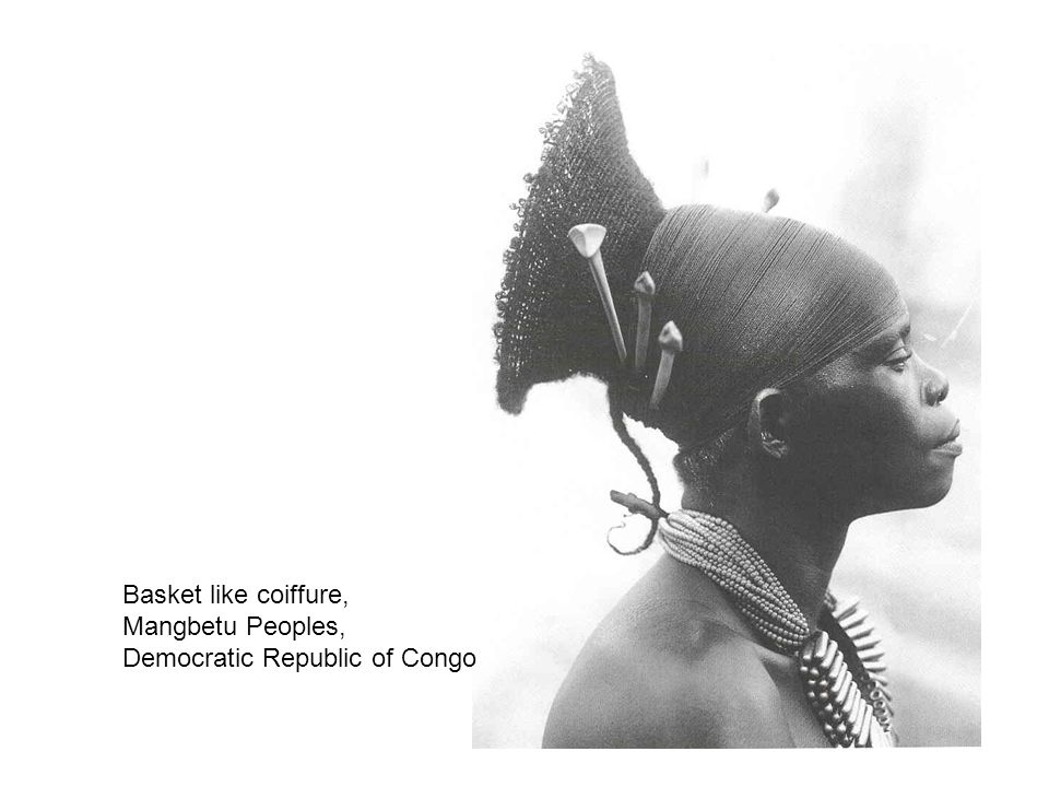 Basket like coiffure, Mangbetu Peoples, Democratic Republic of Congo