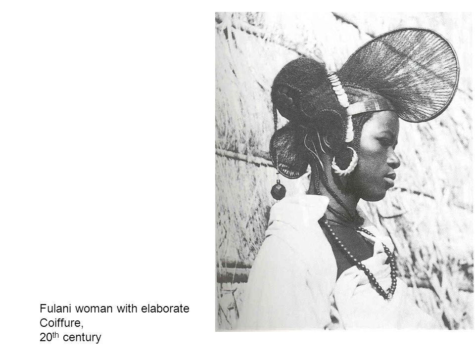 Fulani woman with elaborate Coiffure, 20 th century