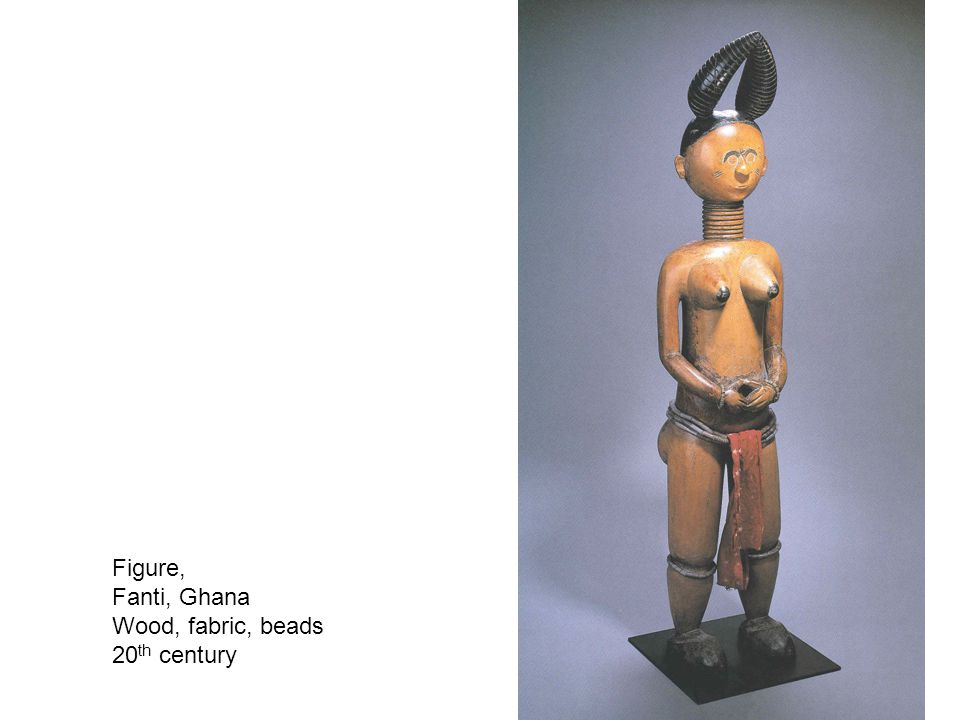 Figure, Fanti, Ghana Wood, fabric, beads 20 th century