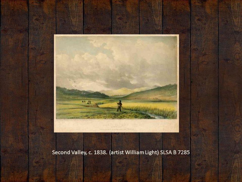 Second Valley, c. 1838. (artist William Light) SLSA B 7285