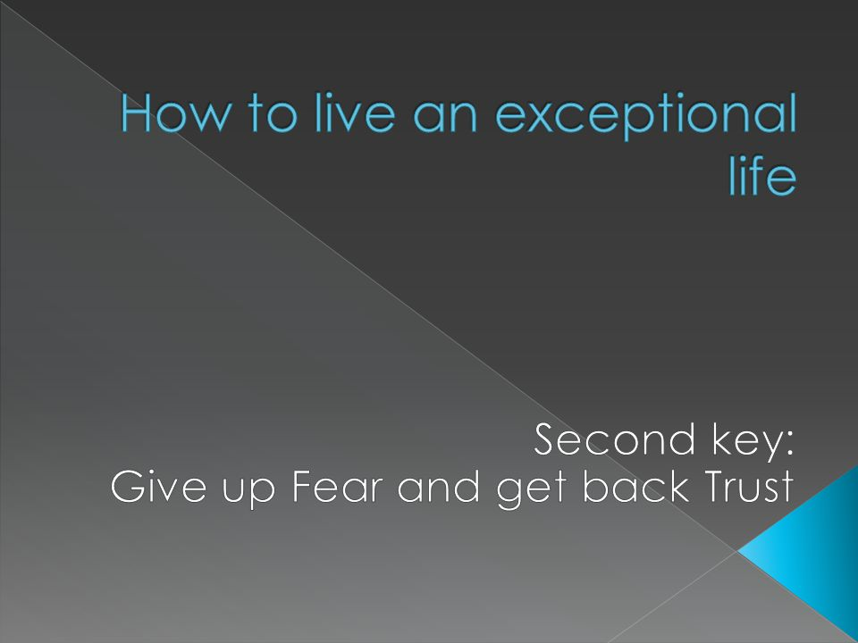  2 Tim 1 v 7 – What is the Spirit of Fear.