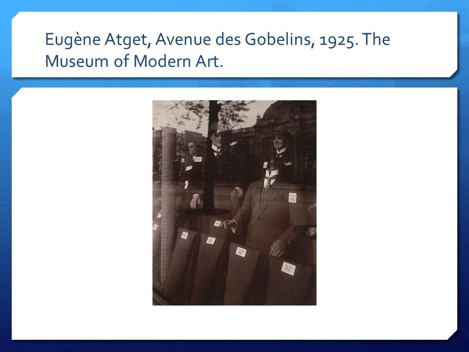 Eugène Atget, Avenue des Gobelins, 1925. The Museum of Modern Art.