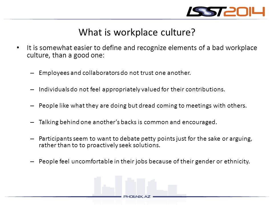What is workplace culture.