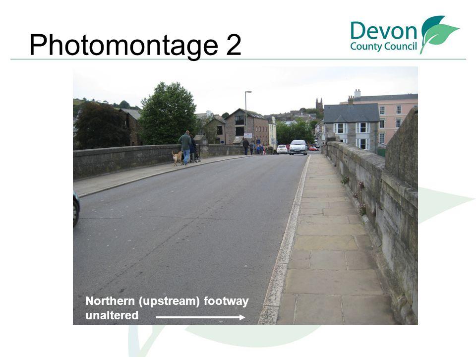 Photomontage 2 Northern (upstream) footway unaltered