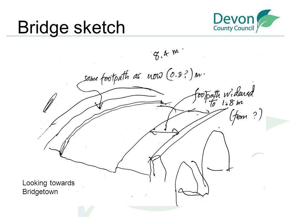 Bridge sketch Looking towards Bridgetown