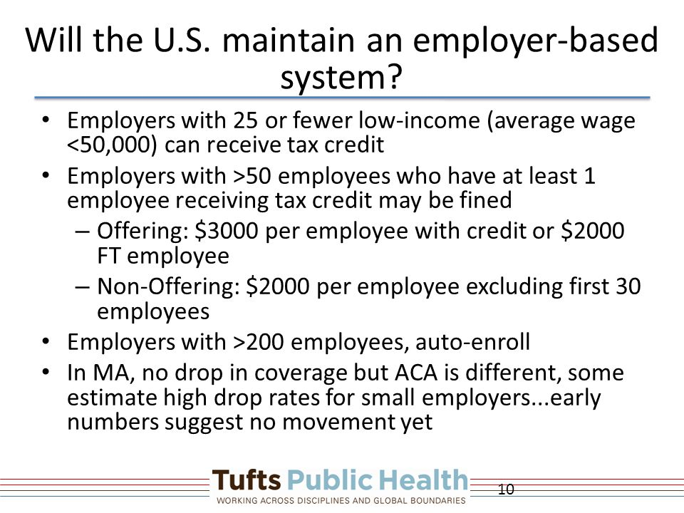 Will the U.S.maintain an employer-based system.