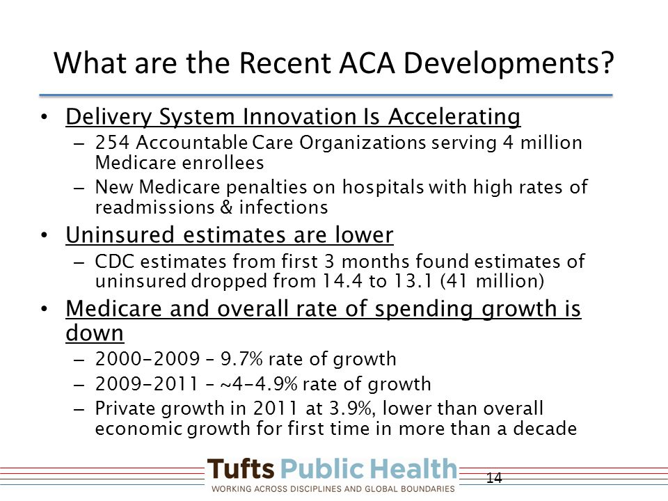 What are the Recent ACA Developments.