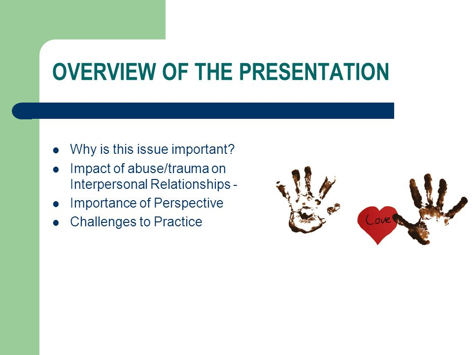 OVERVIEW OF THE PRESENTATION Why is this issue important.