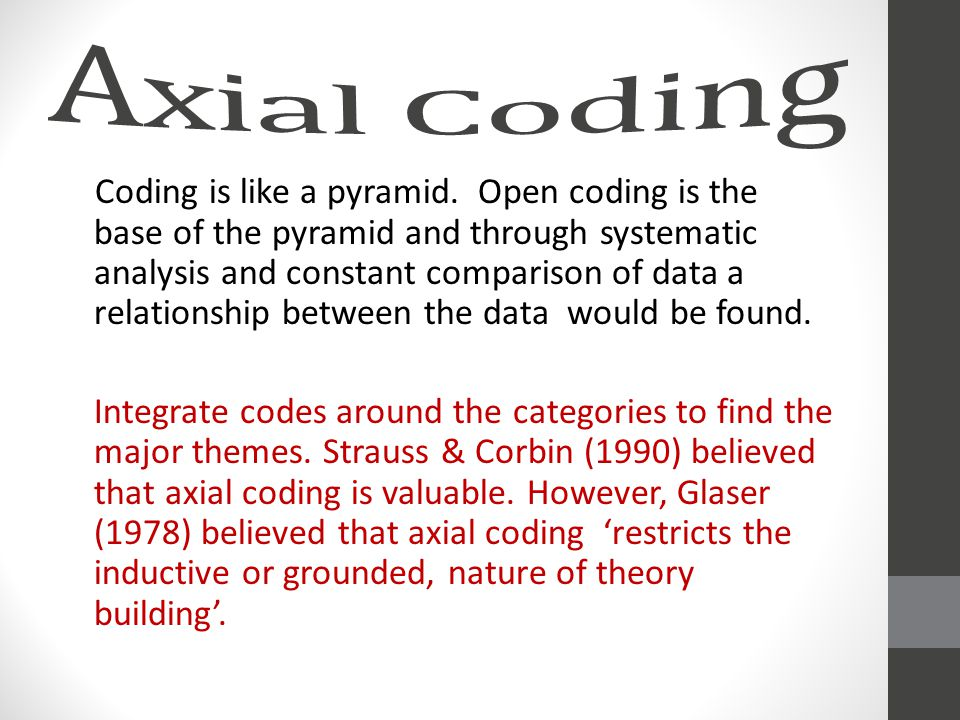 Coding is like a pyramid.