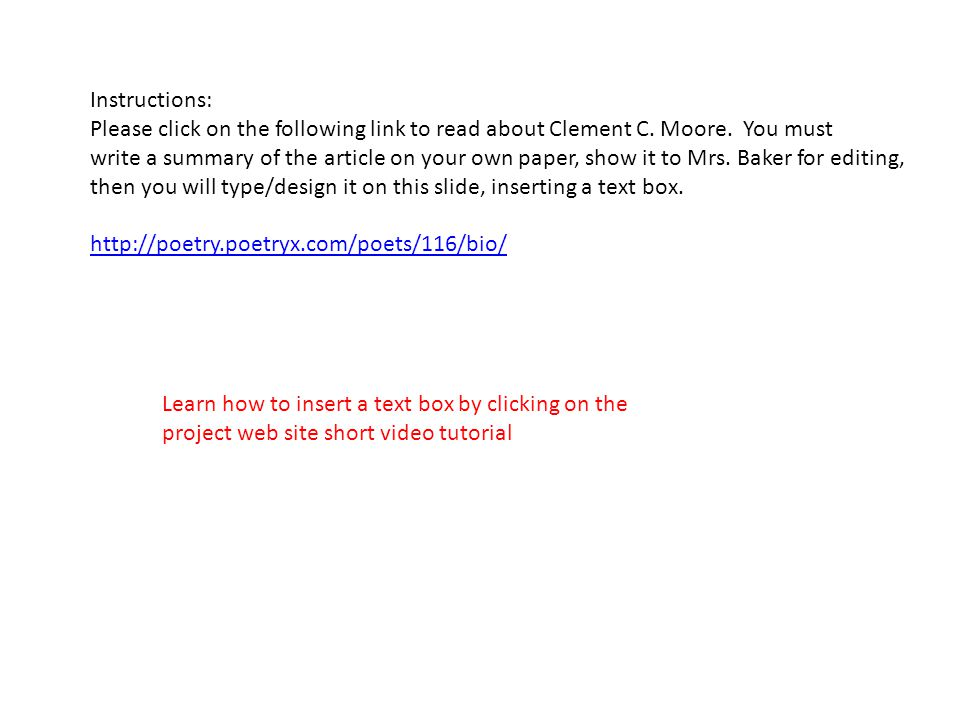 Instructions: Please click on the following link to read about Clement C.