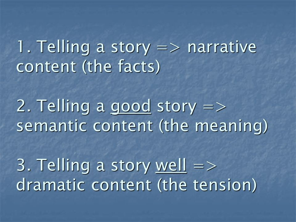What makes a story memorable.