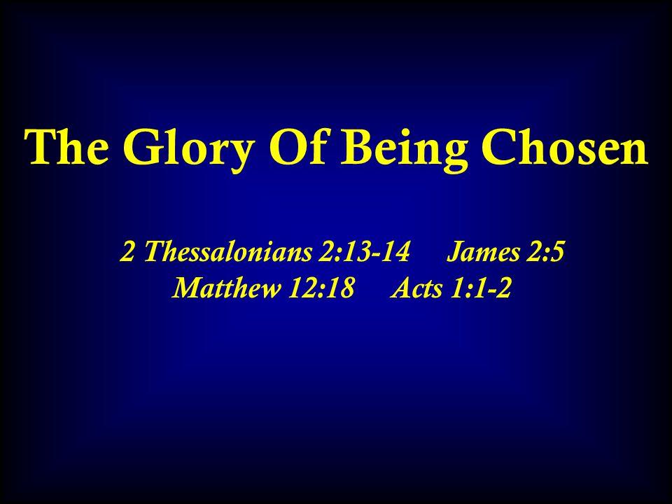 The Dread Of Being Chosen Luke 18:18-23