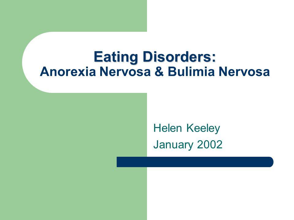 Eating Disorders.