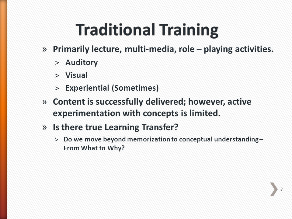 » Guidelines for effective Practice in IVLEs ˃Immersion should mirror the thinking processes and environment of the job (Clark & Meyer) ˃ The more authentic and engaging…the more powerful the learning experience becomes for the participant. (Kapp & O'Driscoll) ˃Cues and clues should be relevant to context of learning, should evoke strong recall and thus strong association with new learning » IVLE not the answer for all training needs 18