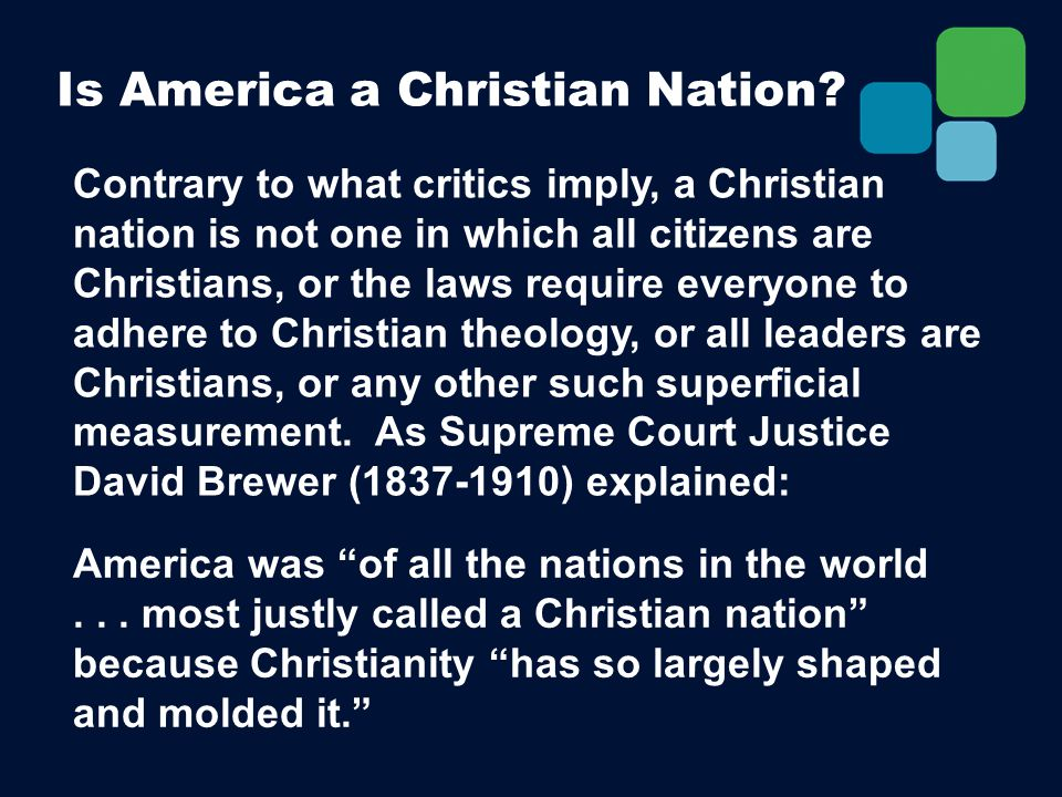 Is America a Christian Nation.