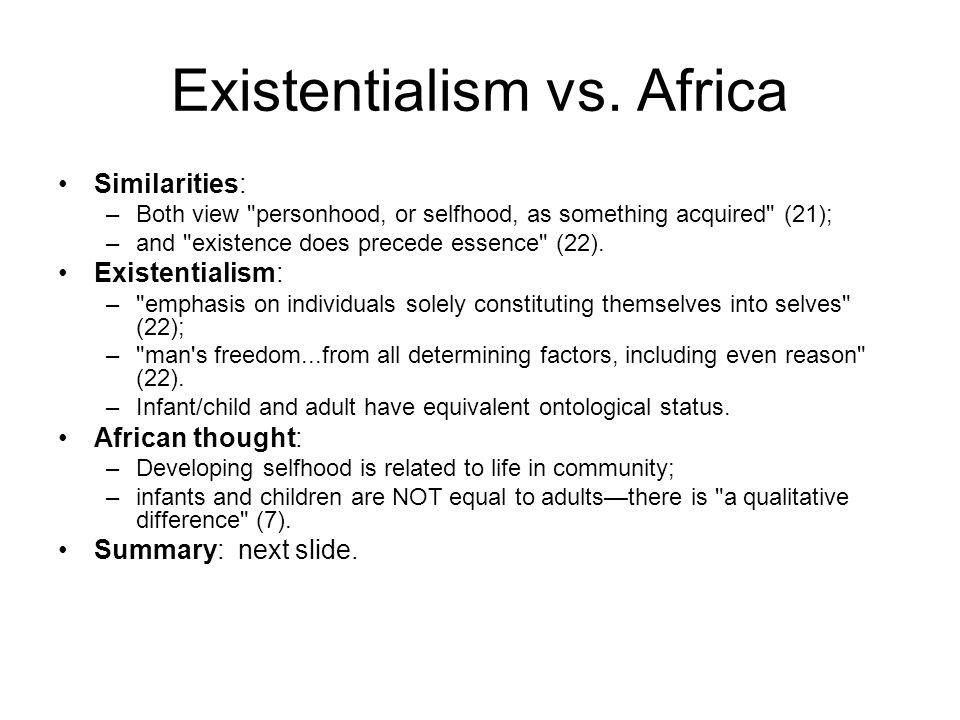 Existentialism vs.