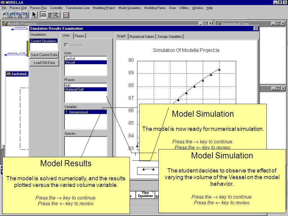 Model Simulation The model is now ready for numerical simulation.