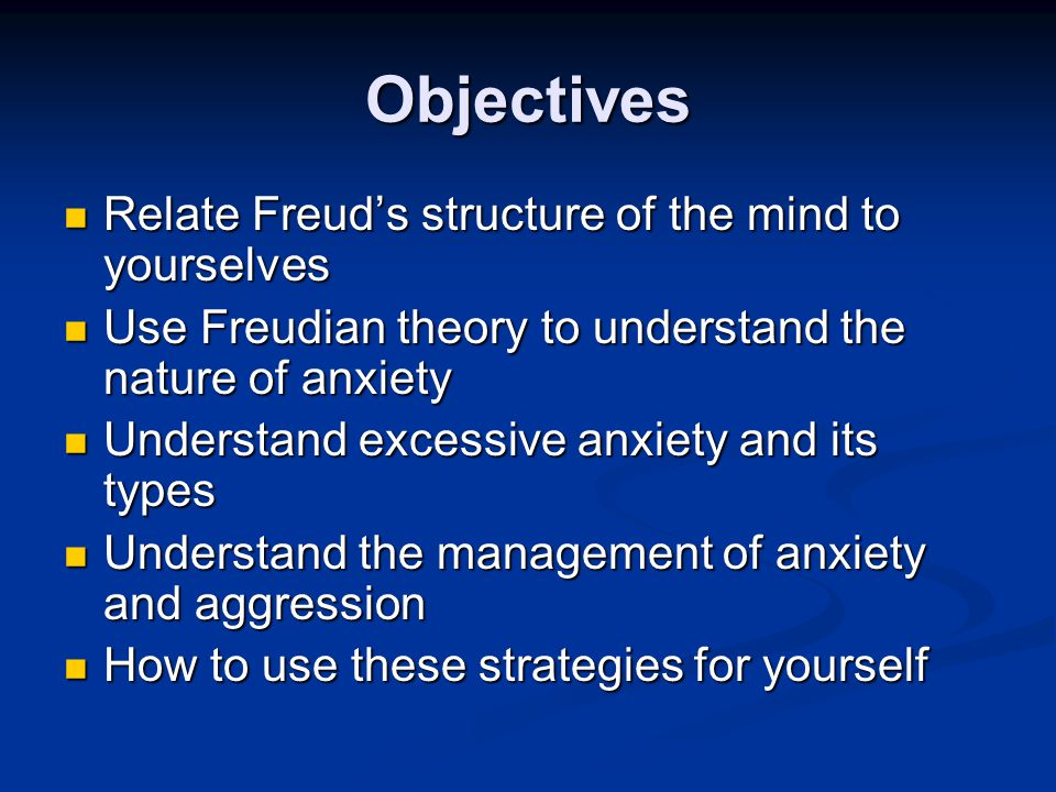 Anxiety and Guilt SUPEREGO EGO ID