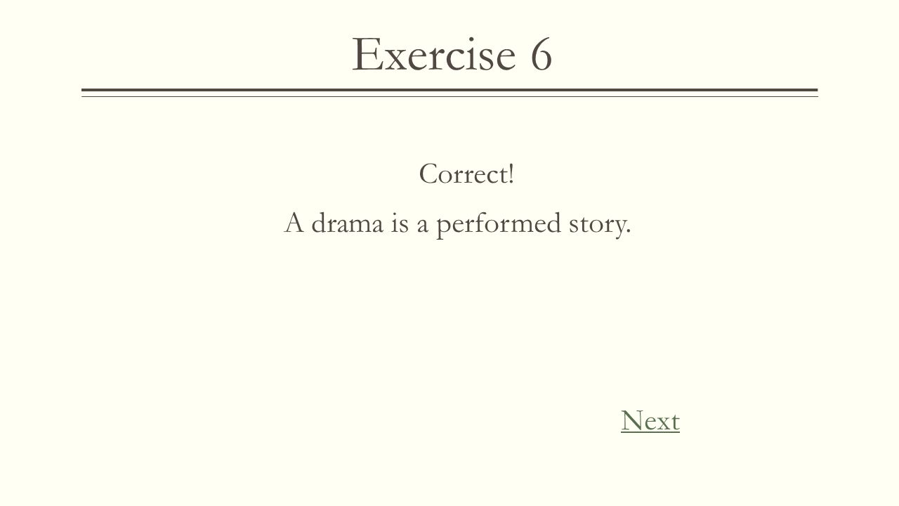"Exercise 6  Shakespeare's most famous work ""Romeo and Juliet"" is about a young couple's romance with a tragic ending. It has been performed on stage"