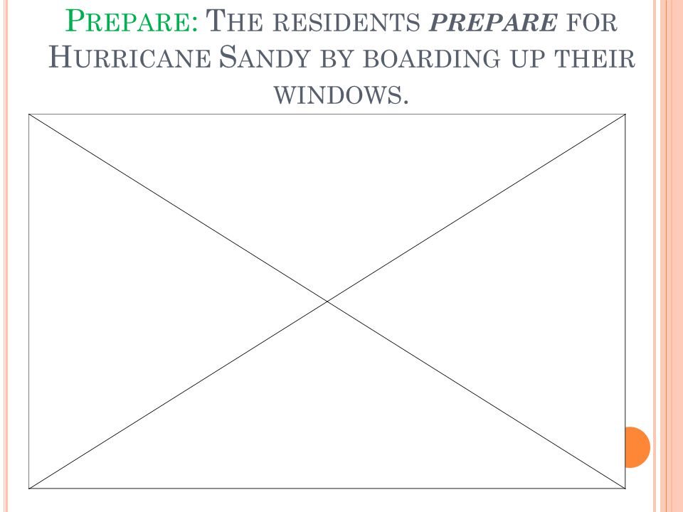 P REPARE : T HE RESIDENTS PREPARE FOR H URRICANE S ANDY BY BOARDING UP THEIR WINDOWS.