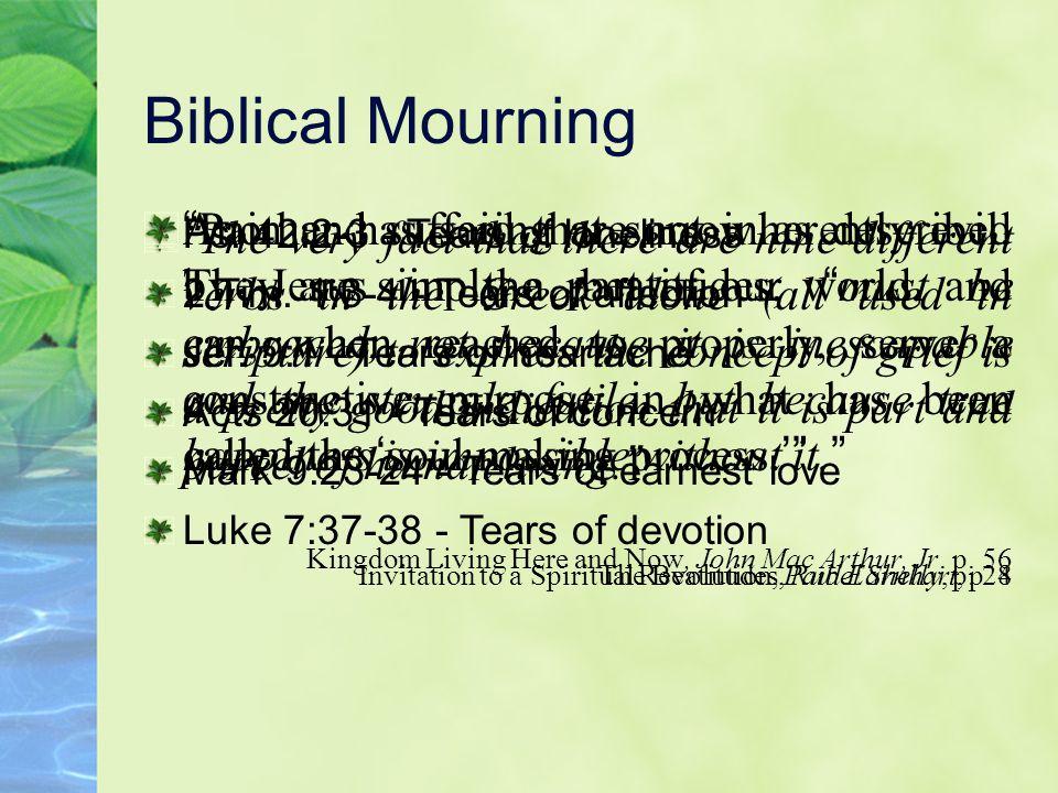 Unprofitable Mourning Mourning Unfulfilled Desires 2 Sam.