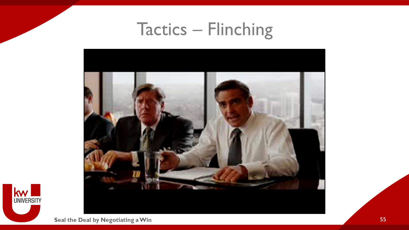 Seal the Deal by Negotiating a Win Tactics – Flinching 55