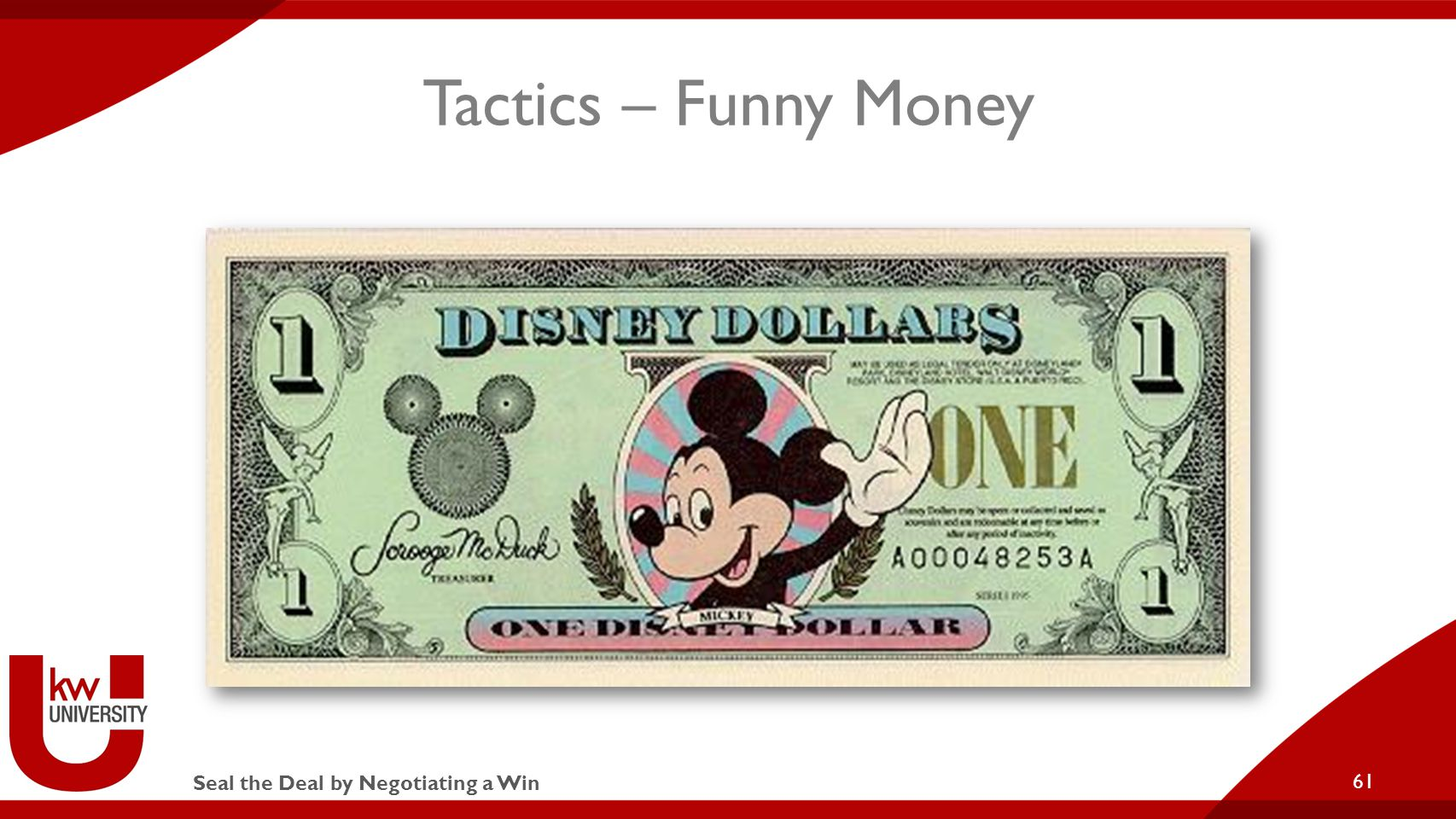 Seal the Deal by Negotiating a Win Tactics – Funny Money 61